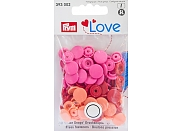 "Кнопки Prym Love 393002 ""Color Snaps"" круглые d12,0 (30шт.)"