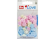"Кнопки Prym Love 393007 ""Color Snaps"" круглые d12,4 (30шт.)"